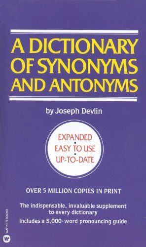 English Synonyms And Antonyms Book Pdf