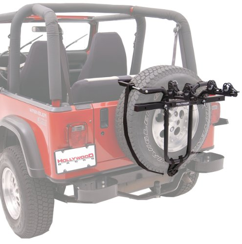Hollywood Racks SR1 Spare Tire Rack 2-Bike Spare Tire Mount Rack (Tire Rack Ski Jeep)