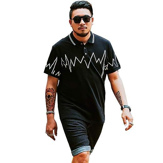 LiXiZhong Camiseta De Gran Tamaño para Hombre Polo Delgado De ...