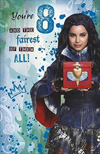 Disney Descendientes 8th Tarjeta de cumpleaños: Amazon.es ...