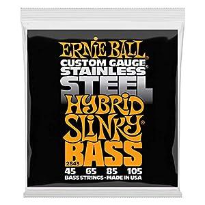 Ernie Ball Hybrid Slinky Edelstahl E-Bass Saiten – 45-105 Gauge