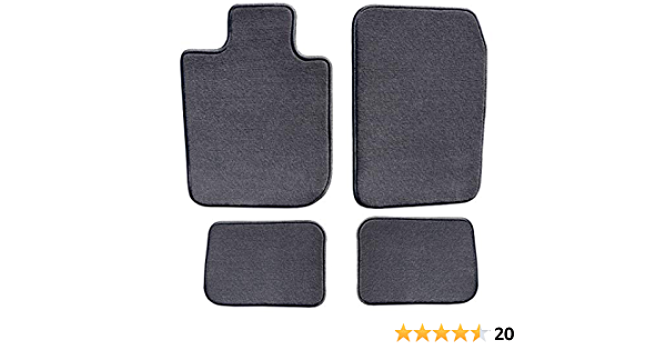 GGBAILEY Black with Red Edging Driver /& Passenger Floor Mats Custom-Fit for Lexus LC500   2018-2019