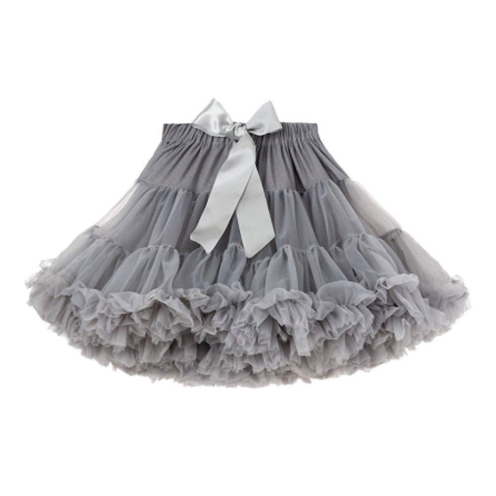 Hzjundasi Falda Tutu de Niñas - Vestido de Baile de Princesa Tul ...
