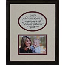 8x10 AUNTIE Picture & Poetry Photo Gift Frame ~ Cream/Burgundy Mat with BLACK Frame ~ Heartfelt Keepsake Picture Frame for an Aunt for Christmas, Birthday or Wedding by PoetrybyJoyceBoyce.com