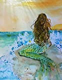 Final Joy Mermaid Blank Note Card Assortment: 6 Artistic All Occasion Watercolor Cards, with Envelopes