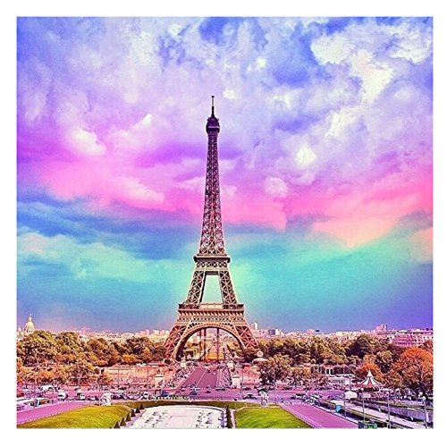 Colors Eiffel Tower - Blxecky 5D DIY Diamond Painting By Number Kits,The Eiffel Tower(12X20inch/30X50CM)