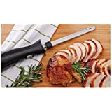 Electric Kitchen Knife, Stainless Steel Blade, for Carving Cutting and Slicing, Black