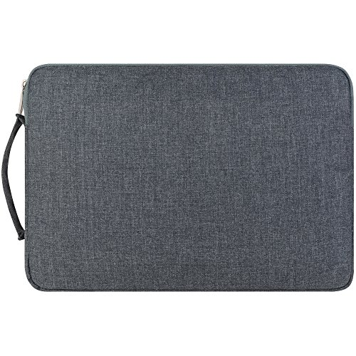 Funda para Portátiles XGUO 15.4 pulgada Laptop Sleeve Bag Carcasa con asa Bolsa Cuero de PU Maletín para MacBook Pro Retina 15 MacBook Pro 15 Touch Bar Notebook Tablet PC Surface Pro iPad Pro Case Cov Gris