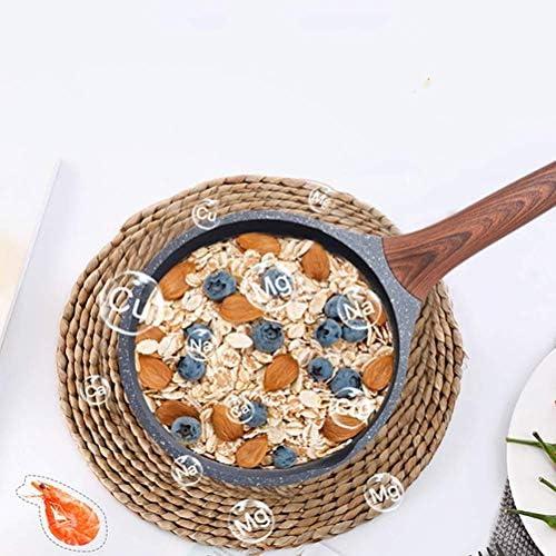 En alliage d'aluminium de lait Pan avec poignée en bois, lait des ménages Pan Conductivity rapide for aliments de bébé, fond composé liuchang20
