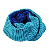 Mens womens Winter Knit Scarf Collar Couple Lover Neck Warmer Double Color
