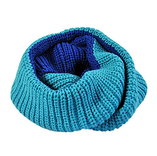 Mens womens Winter Knit Scarf Collar Couple Lover Neck Warmer Double Color by Freedi