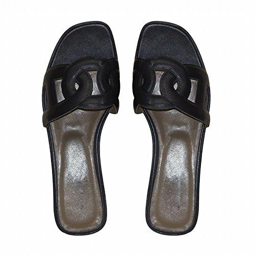 40 de Negro Zapatillas Verano DHG Planas qxBRXwS