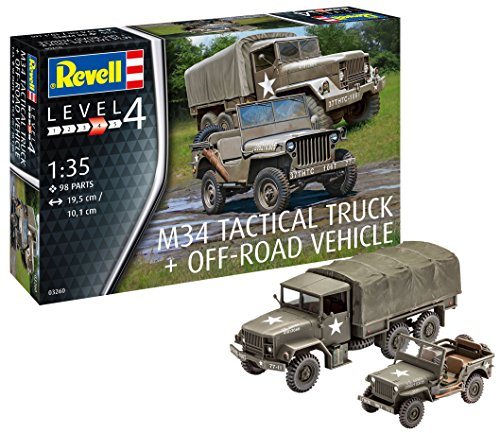 Revell 03260 - M34 Tactical Truck & Off Road Vehicle 1: 35 Scale Model Kit