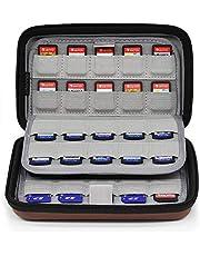 Sisma Etui de rangement pour 80 cartouches de jeux Nintendo Switch Sony Ps Vita et Cartes mémoires SD - maroon SVG190401GC