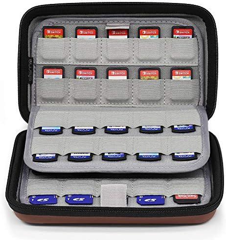 Sisma Estuche de juegos para 80 cartuchos Nintendo Switch PS Vita o Tarjetas SD - Funda cartuchos juego - color marrón: Amazon.es: Videojuegos