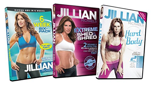 Jillian Michaels Packs (6 Week Six-Pack / Extreme Shed and Shred / Hard Body)