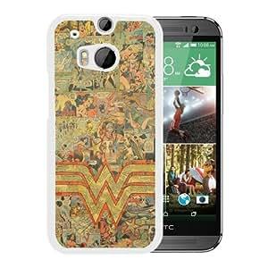 Popular Sale HTC ONE M8,Wonder Woman logo White Unique Custom HTC ONE M8 Phone Case
