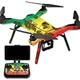 MightySkins Protective Vinyl Skin Decal for 3DR Solo Drone Quadcopter wrap cover sticker skins Rasta Lion