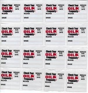 Erwinshy Oil Change/Service Reminder Stickers, 50 Stickers