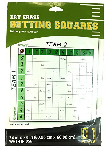Football Dry Erase Betting Squares 24 x 24 (1 Piece) by Toys Supplies