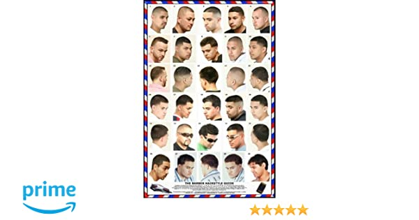 Amazon 061hsm Barber Poster Mens Hairstyles Beauty