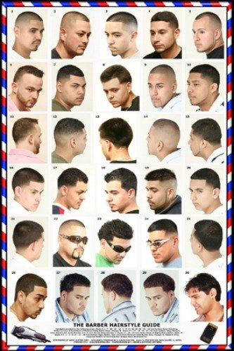 Amazon Com 061hsm Barber Poster Men S Hairstyles Beauty
