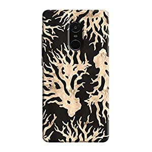 Cover It Up - Black Gold Nature Print Redmi Note 5 Hard Case