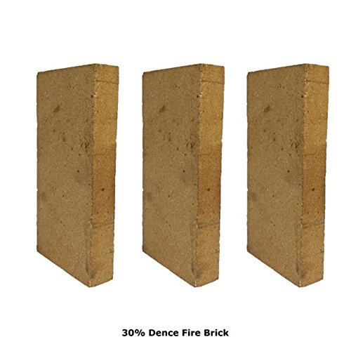 Replacement Firebrick (30% Alumina Dense Refractory Fire Brick Kit 2534°F of 6 Replacements for Stoves, fire pits and Pizza Ovens 9