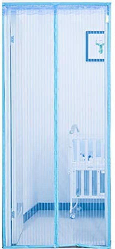 Mampara para Puertas, Cortinas Magnéticas para Puertas, Resistentes Y Duraderas, con Cortina De Malla Duradera - para Puertas Correderas De Balcón Sala De Estar De Niños,Blue-100 * 220: Amazon.es: Hogar