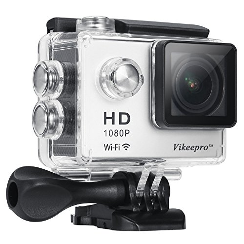 Vikeepro Waterproof WiFi Action Camera 2.0 Inch Full HD 1080p 30fps Wifi Underwater Sports Action Camera With 170 Degree Ultra-wide Angle Lens, Wi-Fi Wrist 2.4G