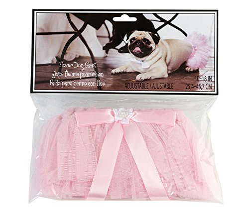 Lillian Rose Wedding Party Pink Dog Tutu Skirt]()