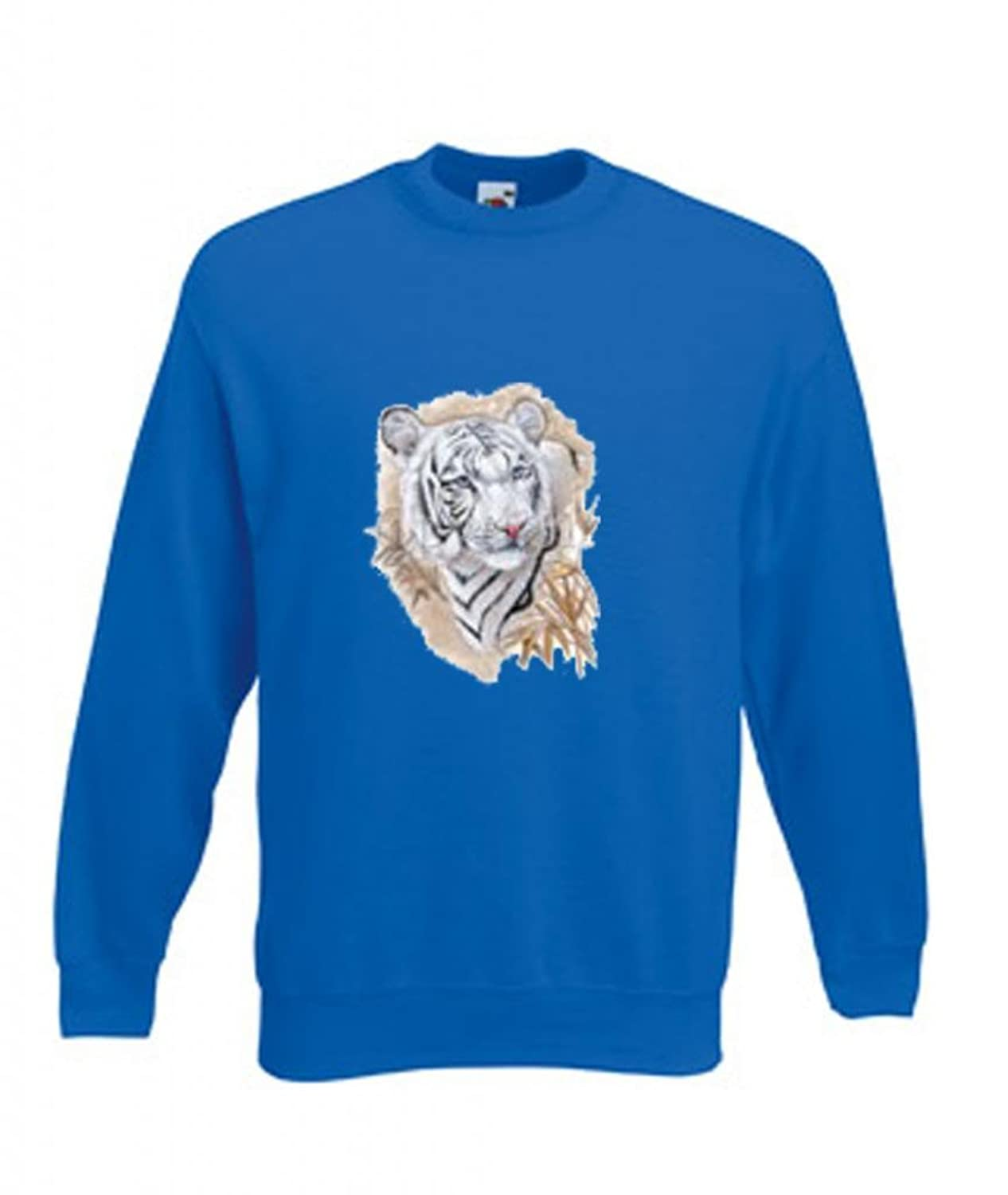 Simply Tees White Tiger Head Adult's Sweatshirt