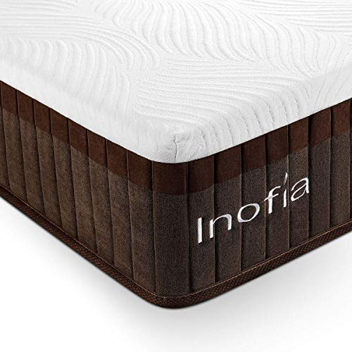 Inofia Queen Mattress, Bed in a Box, Sleeps Cooler with More Pressure Relief & Support Than Memory Foam,CertiPUR-US Certified, Medium Firm, 10 Year U.S. Warranty, Double Size, 11.4 Inches (Beds Beds And More)