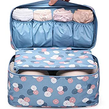 3fc57e928555 Getko Undergarments and innerwear Storage Bag Travel cosmetic pouch for  women, Toiletry Bag Organiser (Blue)