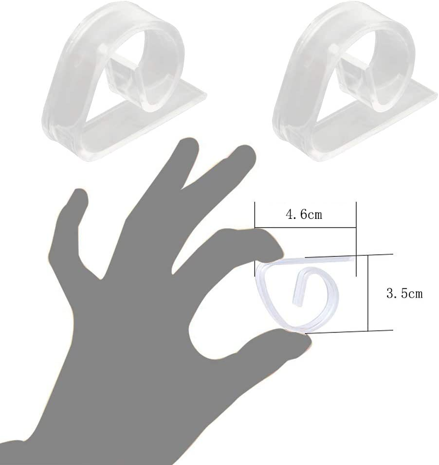 Tavolo Copertina Fermatovaglia Trasparente Holder Morsetto per Festa Picnic YOFASEN 12 Pezzi Clip di Tovaglia Plastica