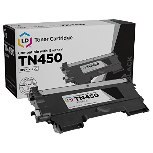LD Compatible Toner Cartridge Replacement for Brother TN450 High Yield (Black) ()