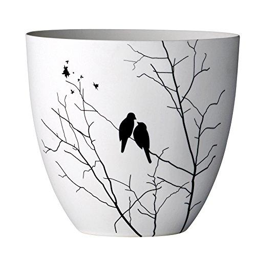 Bloomingville Ceramic Votive Holder with Bird Image