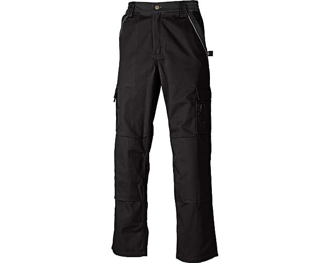6646127c316ba Dickies Pantalon de travail deux tons IN30030, couleur gris noir pointure