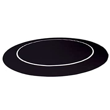 54u0026quot; Black Sure Stick Round Poker Table Layout With Rubber Grip Matting  By Brybelly