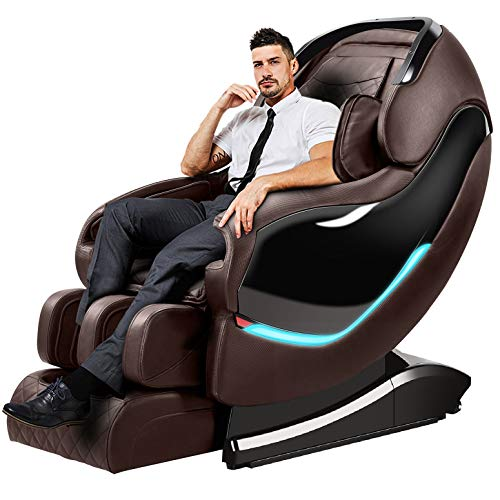 Massage Chair Recliner, SL-Track Zero Gravity, Full Body Shiatsu Electric Massage Chair with Tapping, Heating,Stretching, Swedish Massage Back and Foot Massagers -