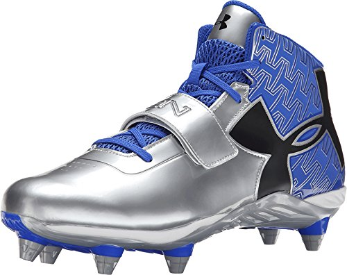 Under Armour New Mens C1N Mid D Football Cleats Royal/Silver Size 13 M