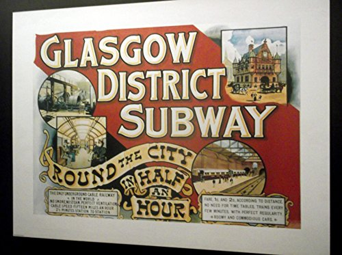 Home Comforts LAMINATED POSTER Glasgow District Subway Sign