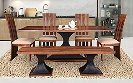 buy online 3bdaf 1609a Mahima Handicraft Sheesham Wooden Luxury Dining Set | 6 ...