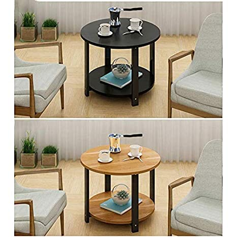 Amazon.com: L-Life End Tables Side Table Round Small Couch ...