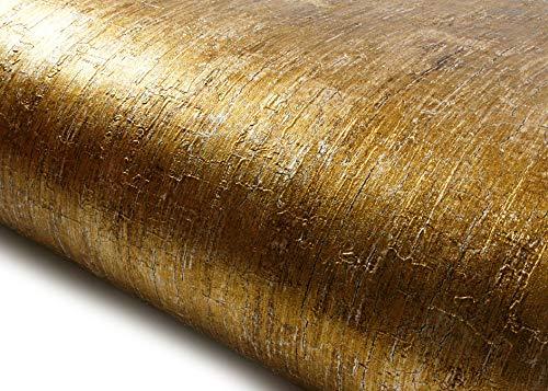 ROSEROSA Peel and Stick PVC Instant Metallic Decorative Self-Adhesive Film Countertop Backsplash Abstract Metal (NI941 : 2.00 Feet X 6.56 Feet) ()