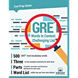 GRE Words In Context: Challenging List (Test Prep Series)