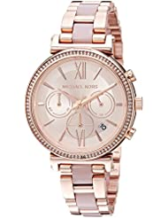 Michael Kors Womens Sofie Analog Display Analog Quartz Rose Gold Watch MK6560