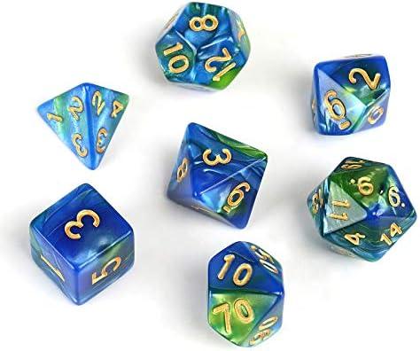 GWHOLE 7 Piezas Dados Poliédricos Dados para Juegos de rol y Mesa ...
