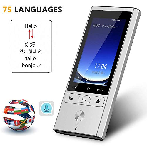 OOOUSE Smart Language Translator Offline, Support 75 Languages 2-Way Instant, 8 Languages Offline Translation, 4G WiFi Mobile Hotspot Connection, Photo Taking and Recording Translation Function (Best Translator English To Russian)