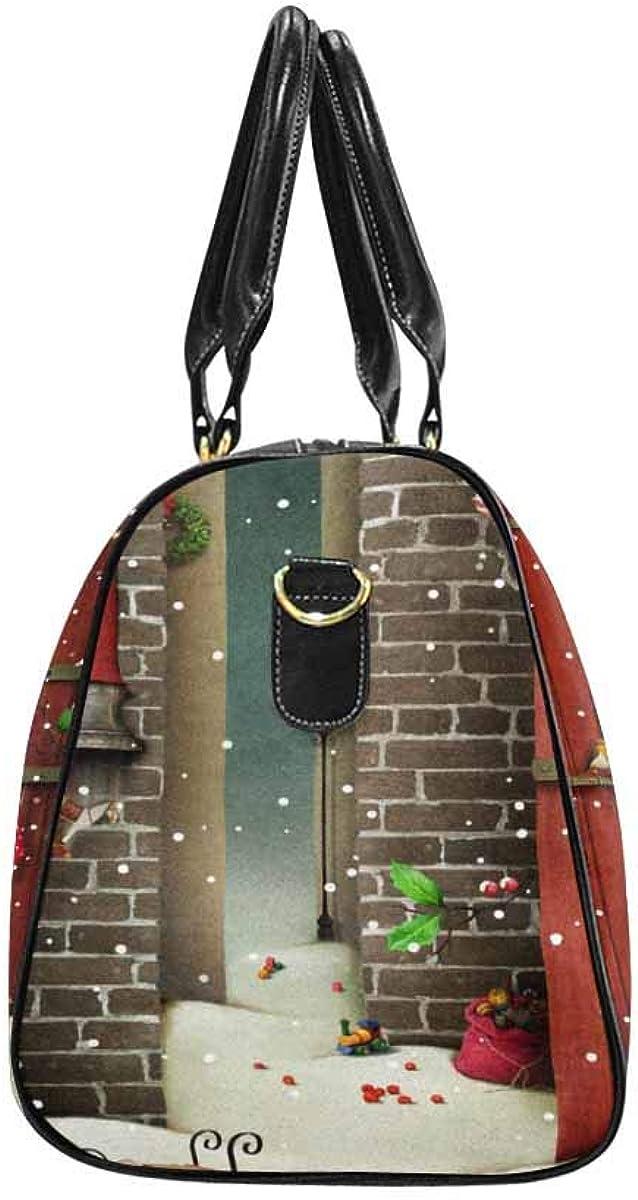 INTERESTPRINT Winter Holidays Travel Duffel Bag for Unisex-Adult Sport